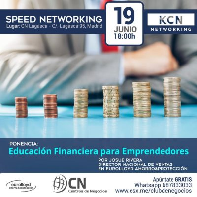 Ponencia «Educación financiera para emprendedores» y speed networking