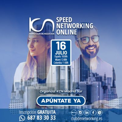 SPEED NETWORKING ONLINE. Multiplica tu Red de Contactos. 16Jul